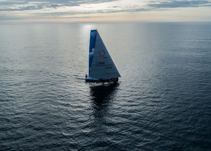 Leg Zero,St. Malo to Lisbon: start to Lisbon onboard Vestas 11th Hour. Photo by James Blake/Volvo Ocean Race. 15 August