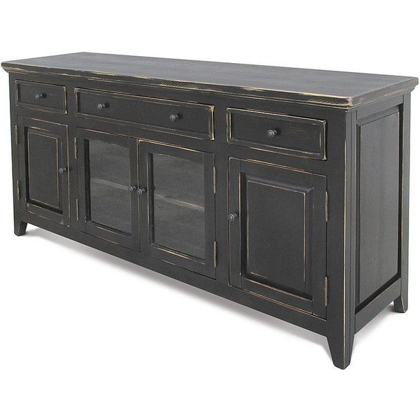 Sideboard Media Console Reclaimed Wood Buffet Tv Stand Entertainment... ($1,285) ❤ liked on Polyvore featuring home, furniture, storage & shelves, console tables & cabinets, grey, home & living, living room furniture, rustic tv stand, grey media console and grey tv stand