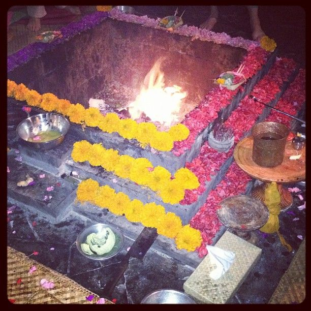 Agni Hotra purification ceremony. Feeling cleansed.  xx Carole