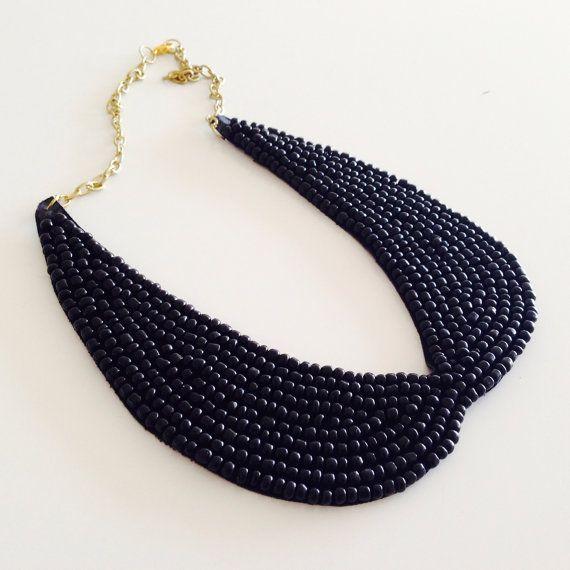bib necklace/collar necklace/statement by sudarium on Etsy, $24.00