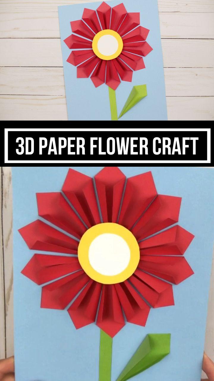 3D Flower Craft For Kids