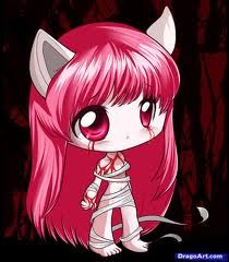like this for a tattoo idea- Elfen Lied