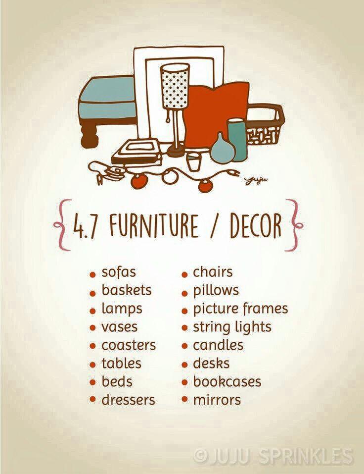 Furniture decor decluttering