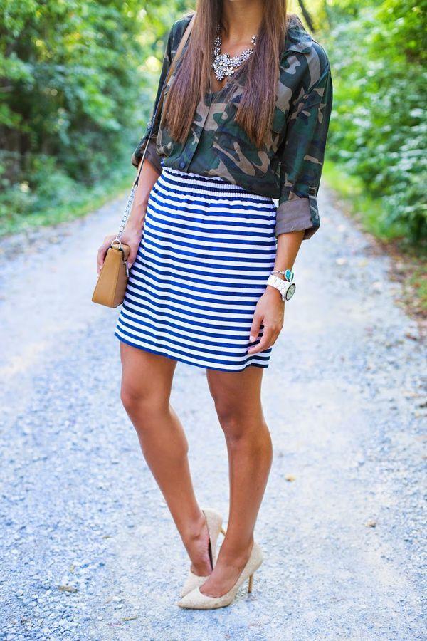 Camo + Stripes:
