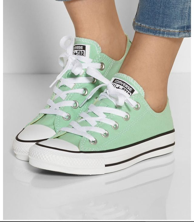 Green Converse Shoes #ad
