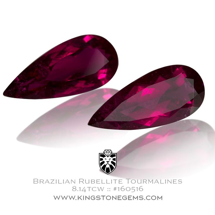 """""""Brazilian Rubellite Tourmalines 8.14tcw - 17.86X7.98X4.98mm - SKU# 160516 - We have many fine beautiful pairs of tourmalines and other precious gemstones."""