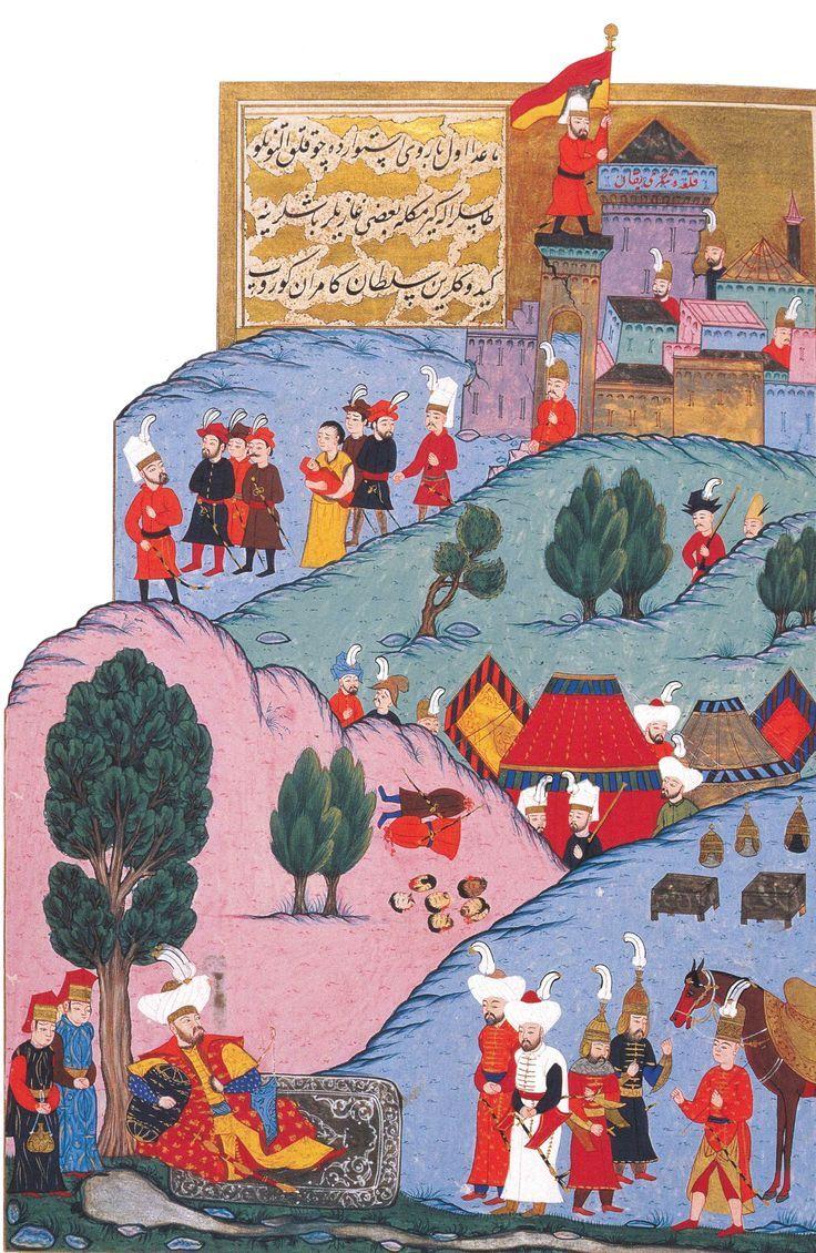 I. Murad, üç hisarı ele geçirdikten sonra dinleniyor, Hünernâme I. TSM. H1523