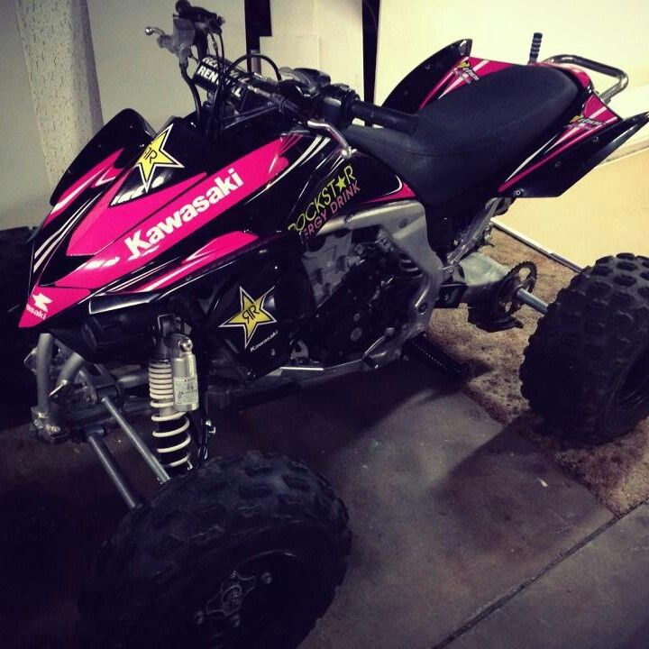 Kawasaki KFX 450 atv graphics kit. Kit by Fireblade Graphics and Signs. Like us on Facebook to see all our kits and to purchase them from our Facebook store.