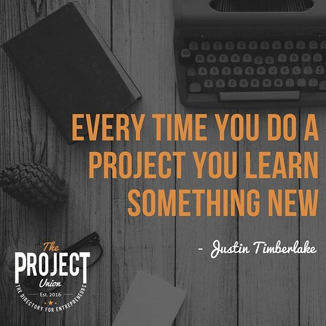 Strive to learn something new every day.  #theprojectunion #lmbdw