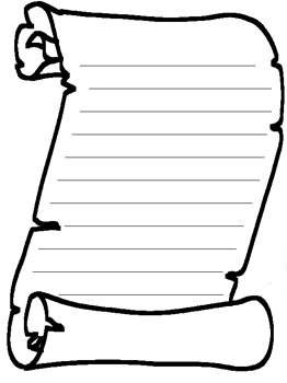 Blank Scroll Template | Free Printable Activity: Blank Scroll – Kids Coloring Pages and Word ...