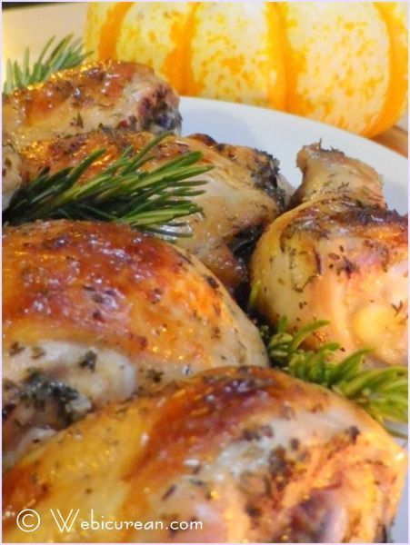 Savory Comfort, love dishes like this! Chicken Roasted with white wine, garlic, and Italian seasonings.