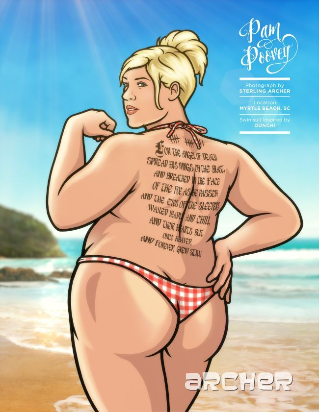 Pam Poovey Isn't Done Showing Off The Goods From Her 'Archer' Swimsuit Issue Photo Shoot