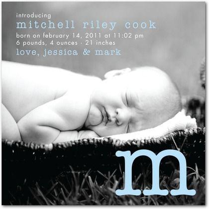 Charming Hello - Boy Photo Birth Announcements - Jill Smith - Oasis
