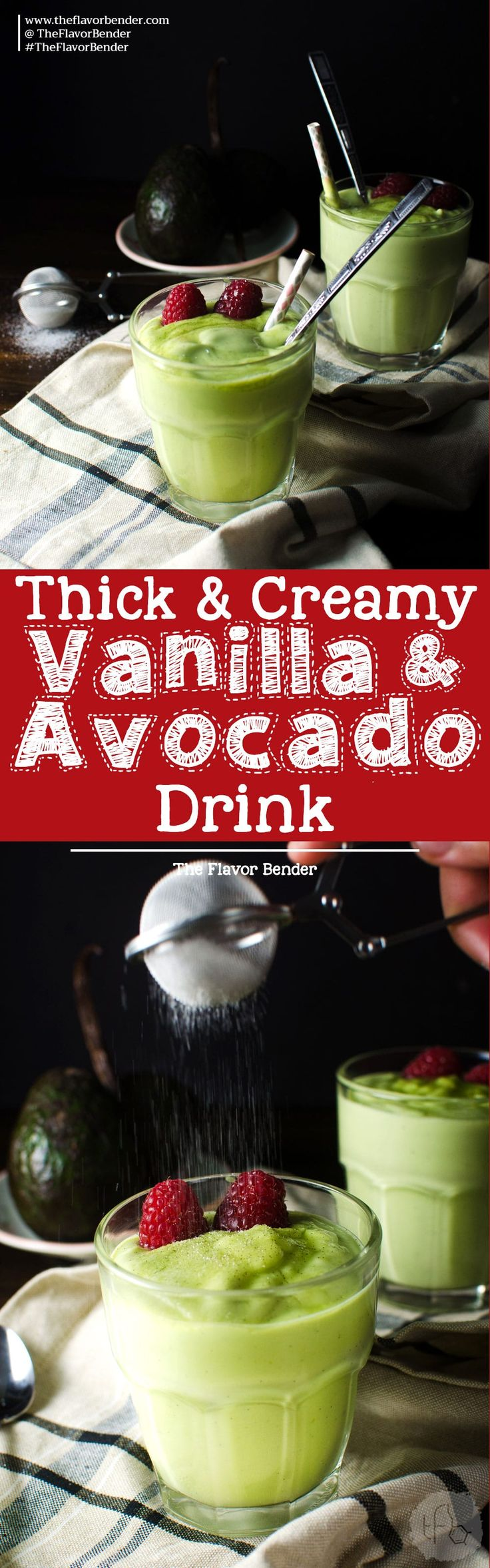 Creamy Vanilla Avocado Drink - This simple avocado based drink is a wonderful alternative for dessert, drinks or milk shakes! It's great to be served all year round and is a great kid friendly recipe!