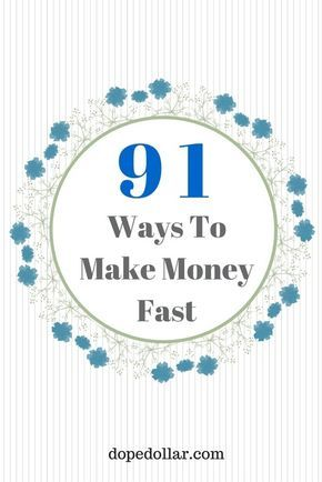 If you need money now, then you need to check out this massive list of 91 ways to make money fast. You can make a few hundred dollars just today using some of these money making ideas. Check them out!