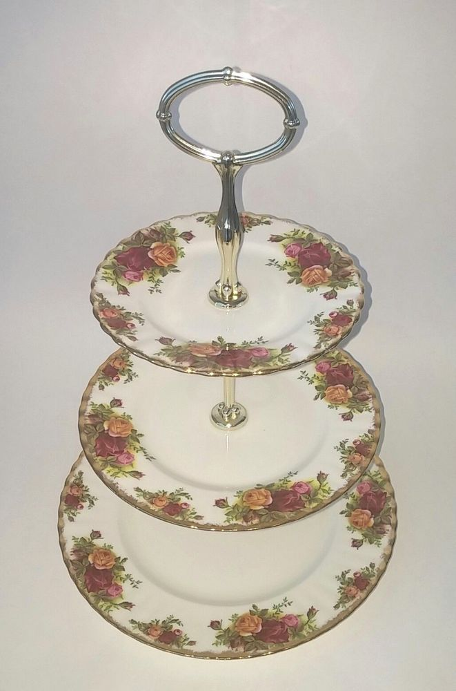Royal Albert Old Country Roses 3 Tier Cake Stand | eBay