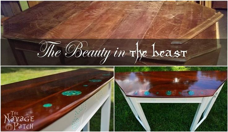 Antique dining table upcycle the beauty in the beast for Beauty and the beast table and chairs