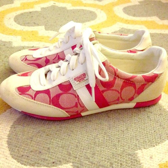 Pink Coach Joss Sneakers Size 6.5 | Shoes, Toe and Pink