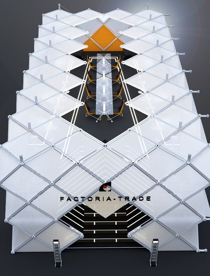 """Дизайн выставочного стенда компании """"FACTORIA-TRADE"""" Москва (200 кв.м.) - Дизайн-студия ICON"""