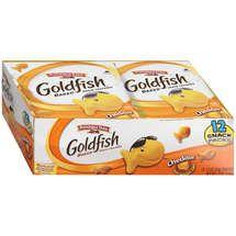 Walmart: Pepperidge Farm: Goldfish Cheddar Baked Snack Packs Crackers, 12 Oz