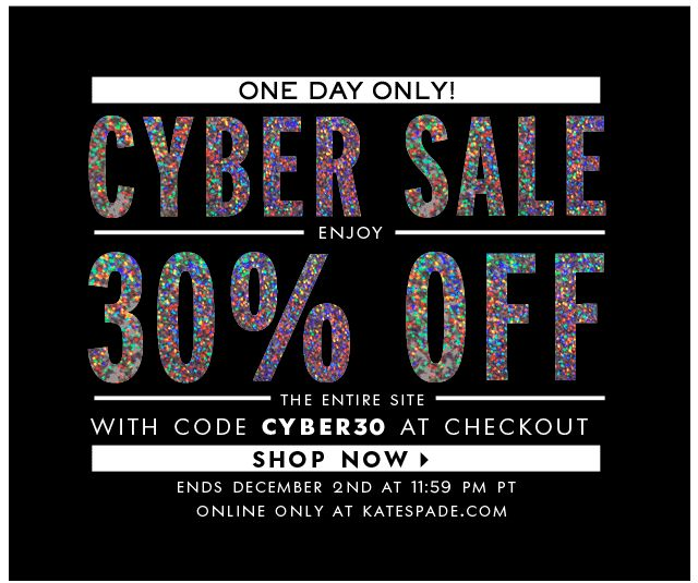 Cyber Friday email Kate Spade email marketing Nov 2013