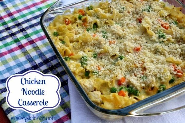Mommy's Kitchen - Recipes From my Texas Kitchen!: Creamy Chicken Noodle Bake