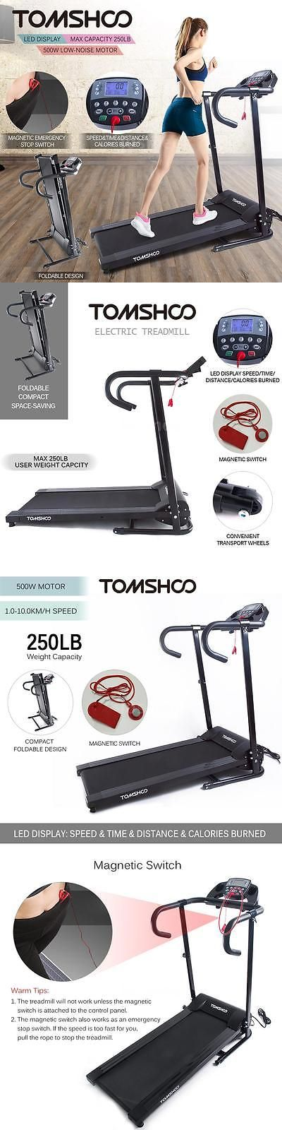 Treadmills 15280: Tomshoo 800W Motorized Folding Electric Treadmill Jogging Machine Home Gym New -> BUY IT NOW ONLY: $178.85 on eBay!