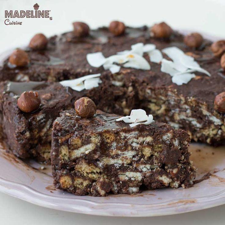 Tort de biscuti fara gluten / Gluten-free chocolate biscuit cake