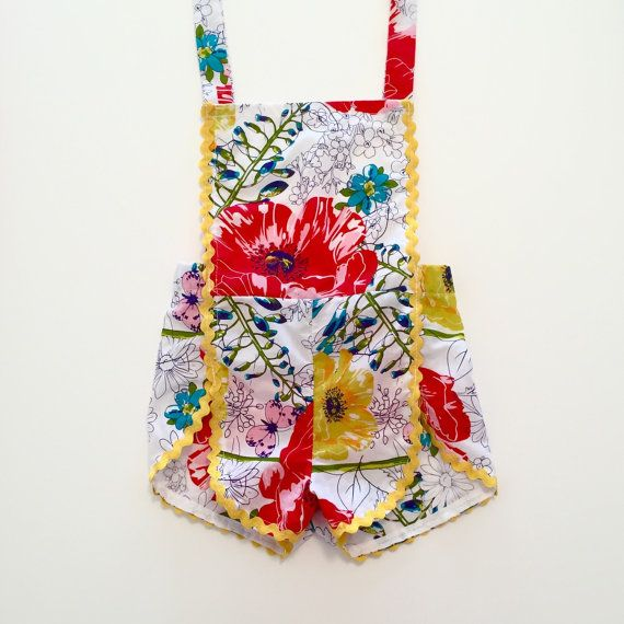 The Playful Bouquet Romper by RetrofitVintageKids on Etsy  Super cute Vintage Rompers and suits, tops, shorts and dresses