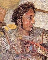 Alexander the Great (created one of largest empires of the ancient world and was undefeated in battle) born on July 20, 356. Died June 10, 323 (suspected poisoning). History.orb for more.