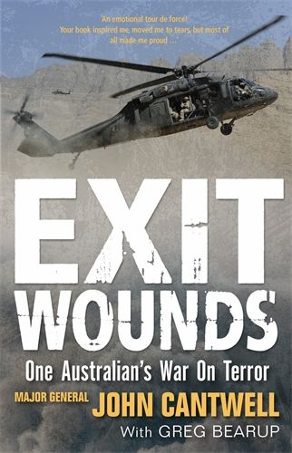 Exit Wounds: One Australian's War on Terror by John Cantwell. Shortlisted for the National Biography Award, 2014. Published by Melbourne University Press, 2013. State Library of New South Wales copy: http://library.sl.nsw.gov.au/record=b4091275