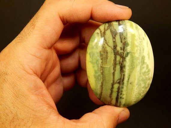 "Infinite Crystal Palm Stone Reiki Healing Crystals Serpentine Palmstone Rock 2 3/8 ""75g (EINPZ)   – Products"