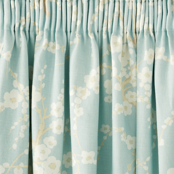 Lori Floral Pencil Pleat Ready Made Curtains