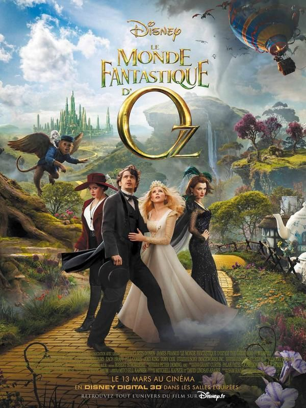 Le Monde Fantastique d'Oz (Oz the Great and Powerful) de Sam Raimi en salles françaises le 13 mars 2013