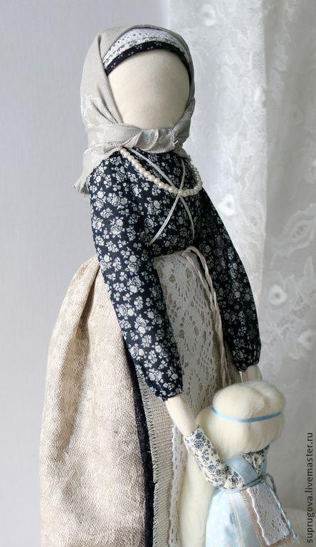 """""""Ведучка"""" Кукла-оберег. - серый,кукла в подарок,оберег,мать и дитя,русская народная кукла"""