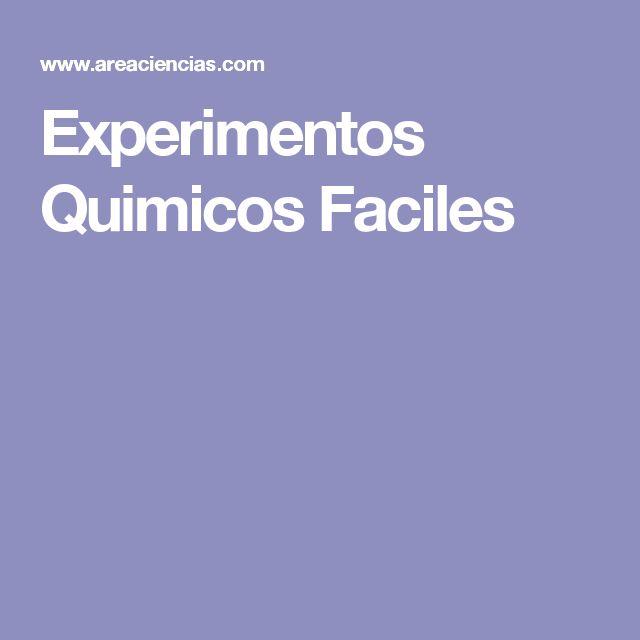 Experimentos Quimicos Faciles