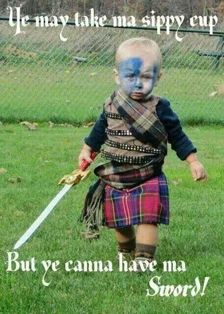 So sweet scottish baby...Order your custom made tartan kilts...... http://scottishkiltshop.com/en/