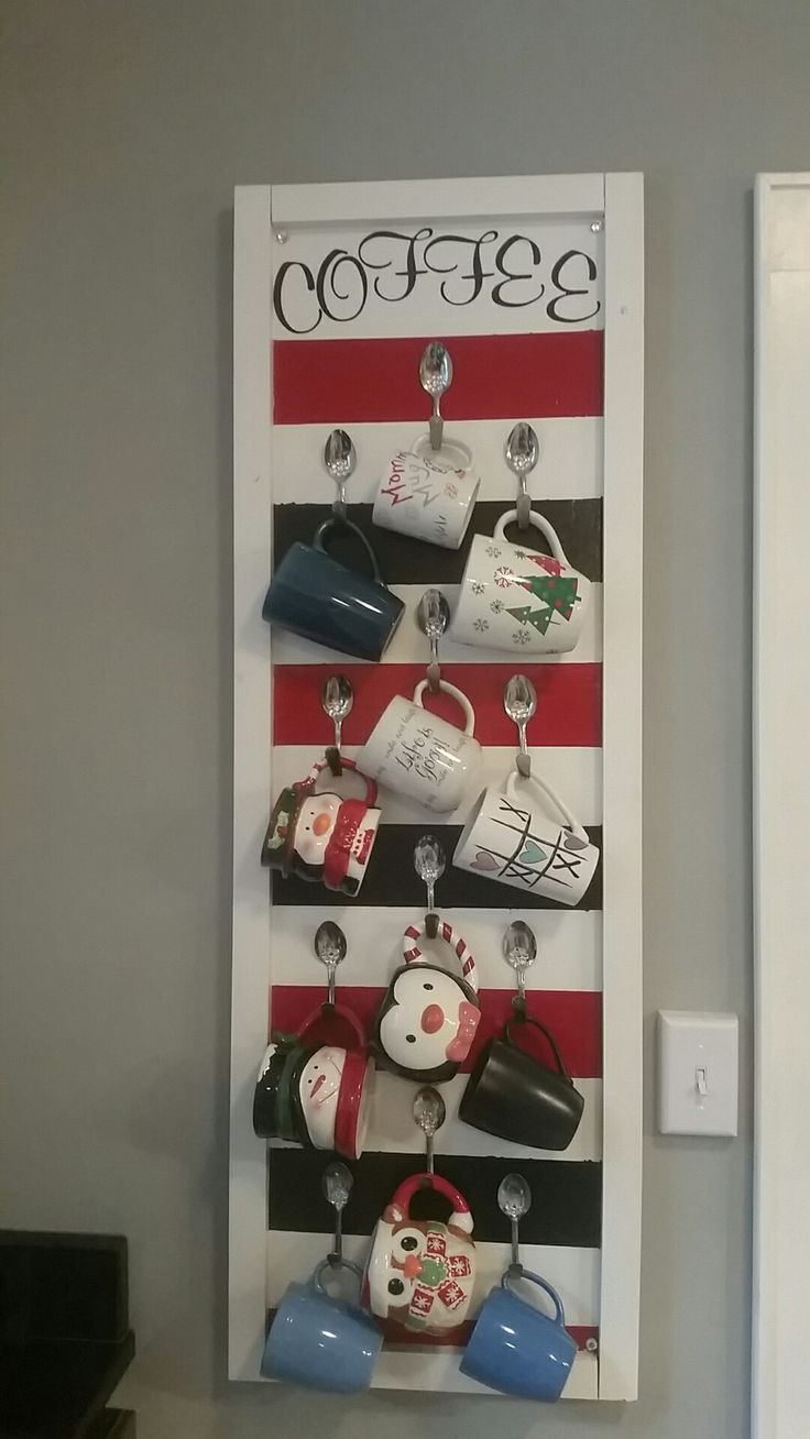 1000 ideas about coffee mug holder on pinterest coffee for Coffee rack diy