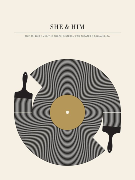 she and him #music #poster #WOWmusic