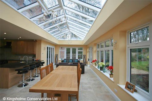 24 best orangeries and garden rooms images on pinterest for Orangery kitchen