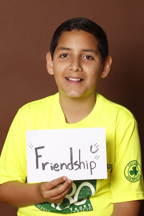 Friendship, Axel Dagoberto Venzor, Colegio San Patricio, Estudiante, Monterrey, México.