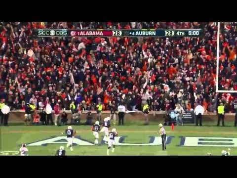 Play of the Year. Auburn vs. Alabama 100 Yard Missed Field Goal Return For Touchdown