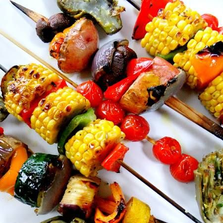 Veggie skewers - Maybe cliche, but still colorful and yummy