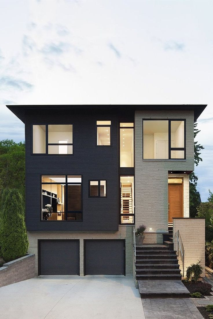 Victorian house colorful interiors for a classy exterior south yarra - Situated In Westboro Village Ottawa Canada This Modern Single Family Property Was Designed By Kariouk Associates Love The Squared Structure And Large
