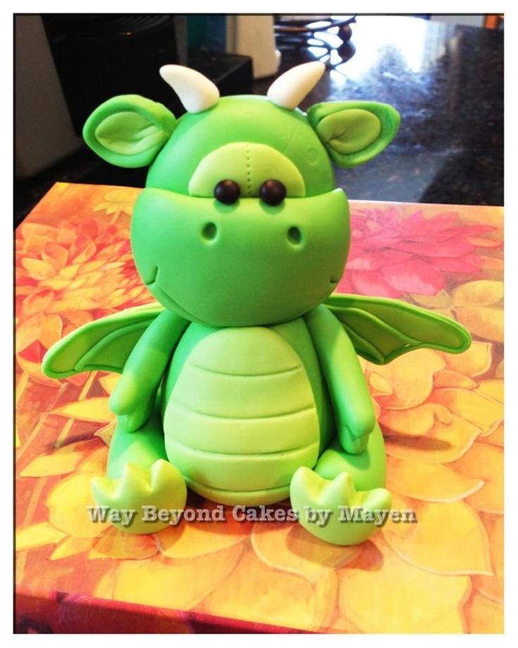 Cute 3D Dragon Cake --Way beyond cakes by Mayen