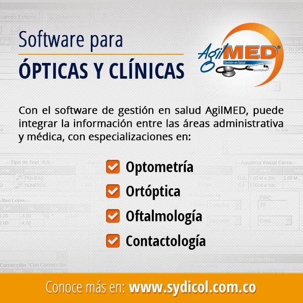 A través de AgilMED puedes generar formulas médicas, autorizaciones, incapacidades, informes especiales y certificados visuales entre otros. Ingresa a: http://www.sydicol.com.co/agilmed/ | #Software #Opticas |