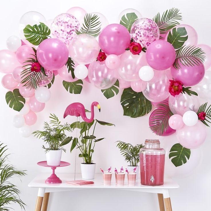 Roze ballonboog kit