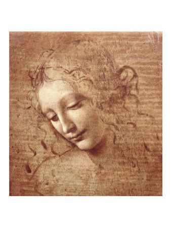 """La Scapigliata - Italian Renaissance master Leonardo da Vinci (1452 – 1519) is widely considered one of the greatest painters and most diversely talented individuals of all time. His female figures, such as """"La Scapigliata,"""" presented woman in a groundbreaking manner—as intelligent beings and biological equals to men."""