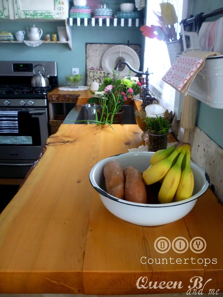 10 images about countertops on pinterest stains wood kitchen countertops and wood countertops - Diy redo kitchen countertops ...