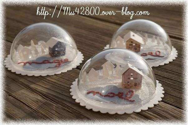 Boules de no l transparentes sakarton - Decoration boule plastique transparente ...